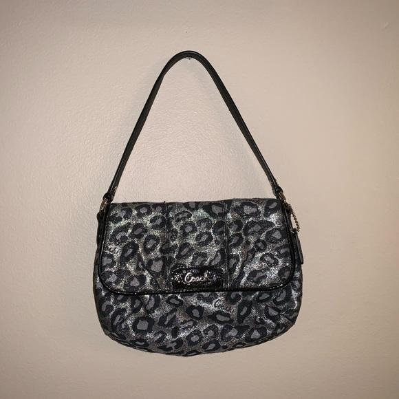 Coach Handbags - Black Leopard Print Coach Purse